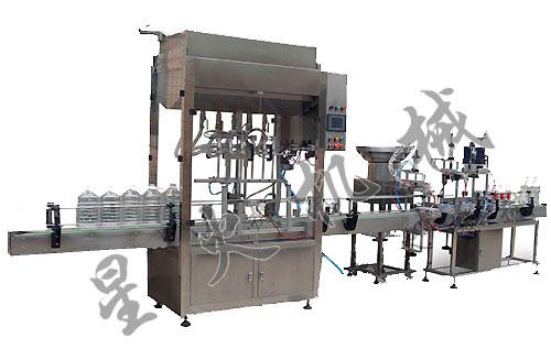 直线型自动灌装机技术参数:最大生产